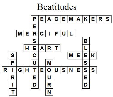 Beatitudes Crossword Puzzle