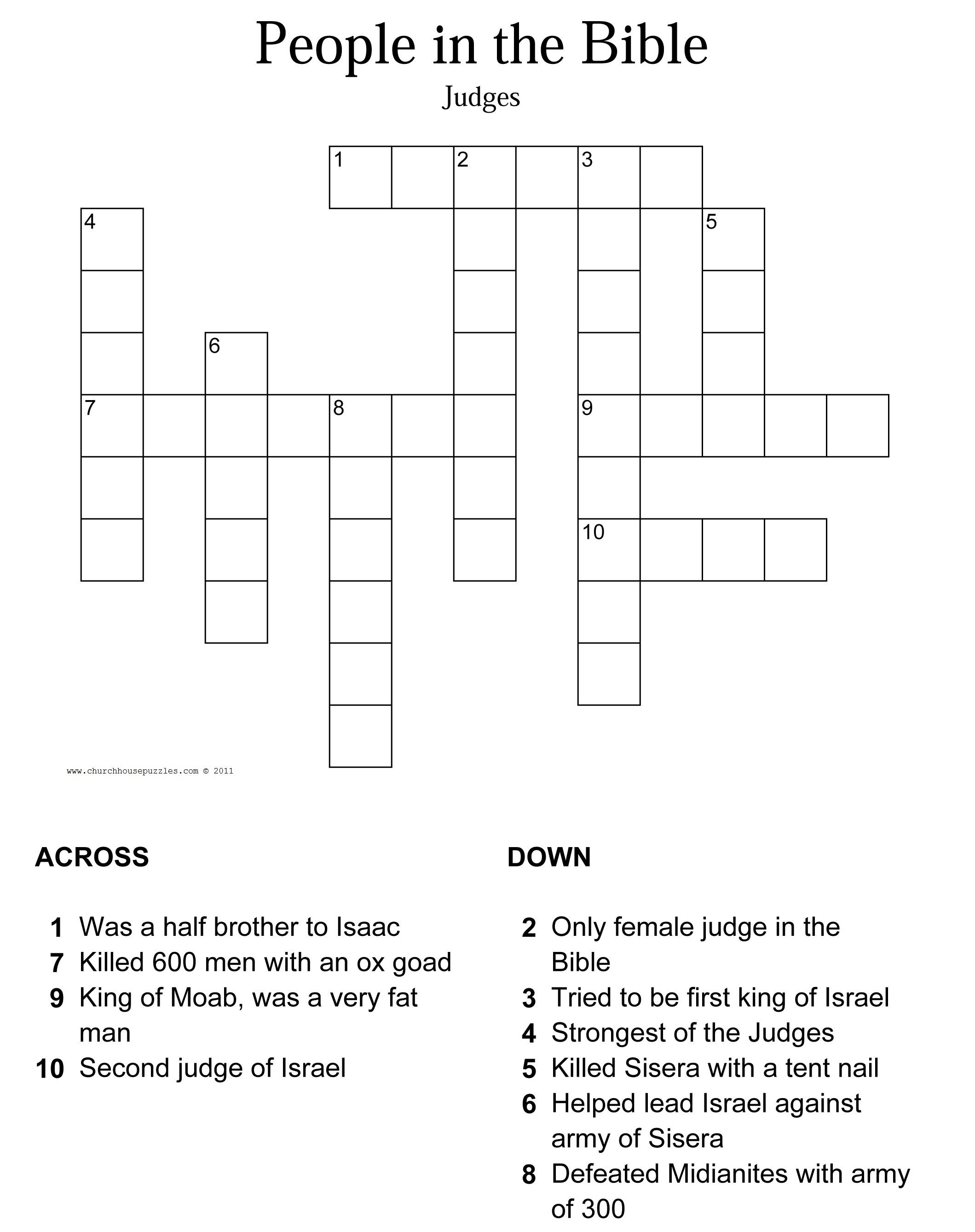 Judges Crossword Puzzle