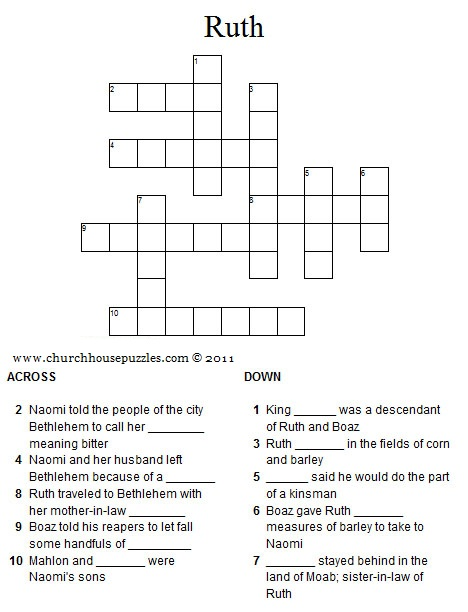 Ruth crossword puzzle