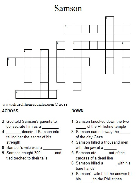 Samson crossword puzzle